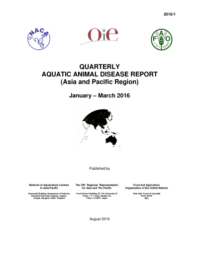 The Quarterly Aquatic Animal Disease Report.