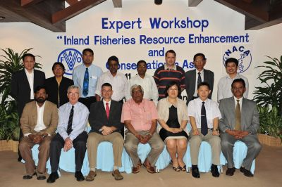 Participants in the Expert Workshop on Inland Fisheries Resource Enhancement and Conservation in Southeast Asia, Pattaya, 2010