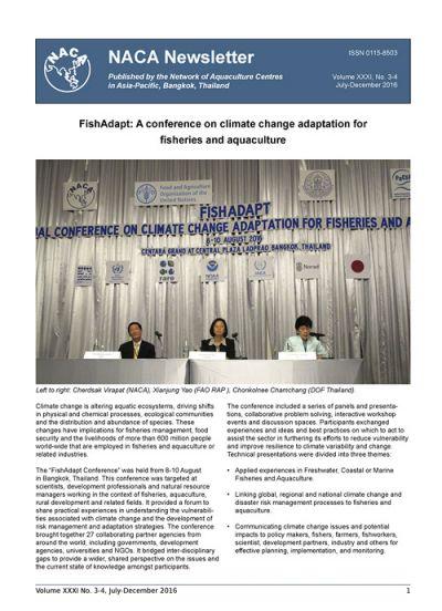NACA Newsletter July-December 2016.