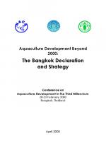 Aquaculture Development Beyond 2000: The Bangkok Declaration and Strategy