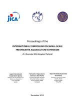 Proceedings of the International Symposium on Small-scale Freshwater Aquaculture Extension