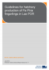 Guidelines for hatchery production of Pa Phia fingerlings in Lao PDR