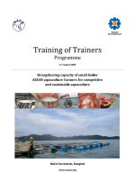Training of Trainers: Strengthening capacity of small holder ASEAN aquaculture farmers