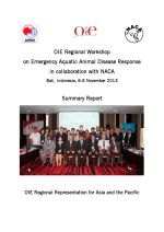 OIE Regional Workshop on Emergency Aquatic Animal Disease Response in Collaboration with NACA: Summary report