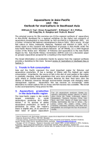 Aquaculture in the Asia-Pacific and the outlook for mariculture in southeast Asia