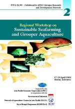 Report of the Regional Workshop on Sustainable Seafarming and Grouper Aquaculture, Medan, Indonesia, 17-20 April 2000
