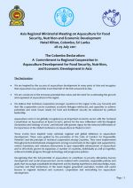 The Colombo Declaration: A Commitment to Regional Cooperation in Aquaculture Development