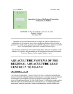 Aquaculture systems of the Regional Aquaculture Lead Centre in Thailand