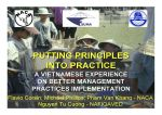 Putting principles into practice: A Vietnamese experience on better management practices implementation
