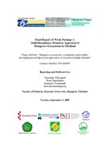 Multidisciplinary situation appraisal of mangrove ecosystems in Thailand