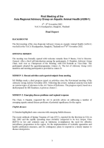 Report of the first meeting of the Asia Regional Advisory Group on Aquatic Animal Health, 6-8 November 2002