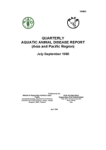 Quarterly Aquatic Animal Disease Report, July-September 1998