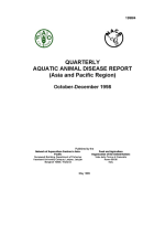 Quarterly Aquatic Animal Disease Report, October-December 1998