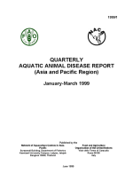 Quarterly Aquatic Animal Disease Report, January-March 1999
