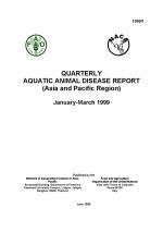 Quarterly Aquatic Animal Disease Report, January-March 1999