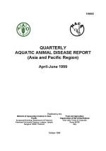 Quarterly Aquatic Animal Disease Report, April-June 1999
