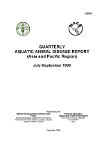 Quarterly Aquatic Animal Disease Report, July-September 1999