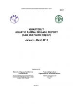 Quarterly Aquatic Animal Disease Report, January-March 2013