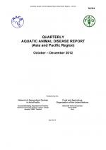 Quarterly Aquatic Animal Disease Report, October-December 2012