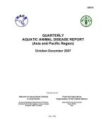Quarterly Aquatic Animal Disease Report, October-December 2007