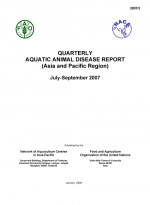 Quarterly Aquatic Animal Disease Report, July-September 2007