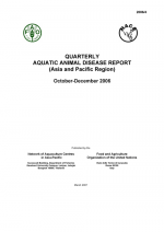 Quarterly Aquatic Animal Disease Report, October-December 2006