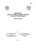 Quarterly Aquatic Animal Disease Report, April-June 2003