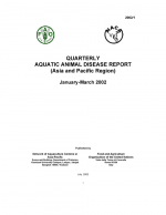 Quarterly Aquatic Animal Disease Report, January-March 2002