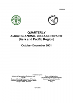 Quarterly Aquatic Animal Disease Report, October-December 2001