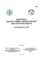 Quarterly Aquatic Animal Disease Report, July-September 2001