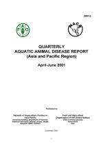 Quarterly Aquatic Animal Disease Report, April-June 2001