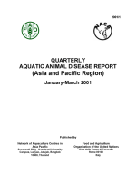 Quarterly Aquatic Animal Disease Report, January-March 2001