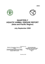 Quarterly Aquatic Animal Disease Report, July-September 2000