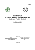 Quarterly Aquatic Animal Disease Report, April-June 2000