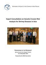 Proceedings of the Expert Consultation on Genetic Erosion Risk Analysis for Shrimp Diseases in Asia, 13-14 November 2013