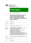Determinants for WSD outbreaks in Indonesian smallholder shrimp ponds