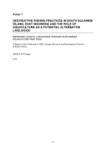 Destructive fishing practices in south Sulawesi Island, East Indonesia, and the role of aquaculture as a potential alternative livelihood