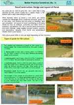 Pond construction: Design and layout of ponds