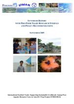 International seafood trade: Supporting sustainable livelihoods among poor aquatic resource users in Asia. Synthesis report with pro-poor trade research findings and policy recommendations