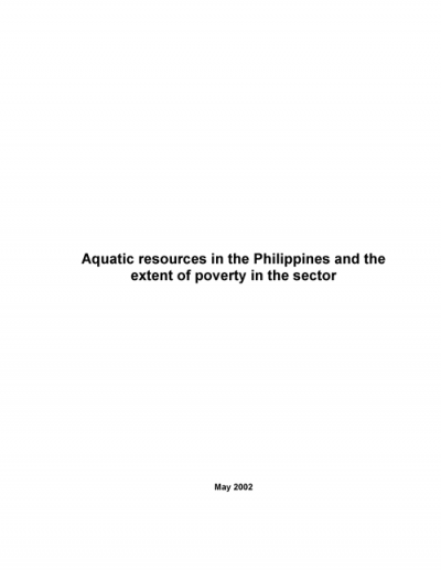 extent of poverty