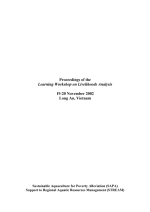 Proceedings of the Learning Workshop on Livelihoods Analysis, 19-20 November 2002, Long An, Vietnam