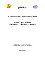 A livelihoods study of farmers and fishers in Dang Tong Village, Kampong Chhnang Province, Cambodia
