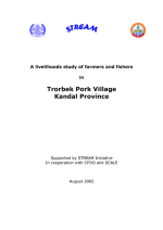 A livelihoods study of farmers and fishers in Trorbek Pork Village, Kandal Province, Cambodia