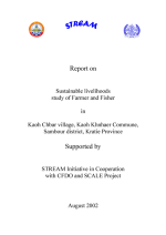 Report on sustainable livelihoods study of farmers and fishers in Kaoh Chbar Village, Kratie Province, Cambodia