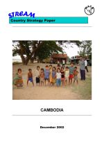 Cambodia country strategy paper