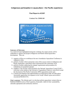 Report on indigenous participation in aquaculture - the Pacific experience, Sydney, Australia, 27-28 September 2004