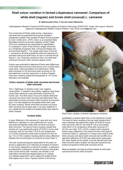 Aquaculture Asia Magazine, Volume 21(1): 24-26