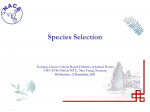 Species selection in culture-based fisheries