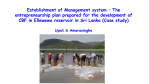 Entrepreneurship plan prepared for the development of culture-based fisheries in Ellewewa reservoir, Sri Lanka