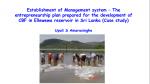 Entrepreneurship plan prepared for the development of culture-based fisheries in Ellewewa reservoir, Sri Lanka